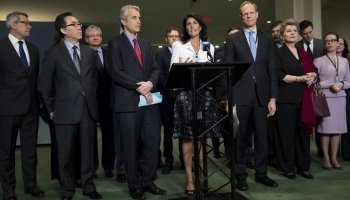 US and as many as 40 other nations boycott UN talks on a nuclear ban