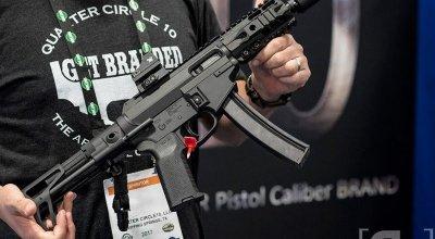 Quarter Circle 10's QC-5 9mm AR uses MP-5 mags