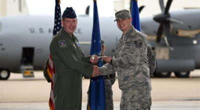 314th Airlift Wing Receives Final New C-130J Aircraft – Gets the Key to the Plane!