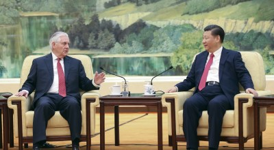 In China debut, Tillerson appears to hand Beijing a diplomatic victory