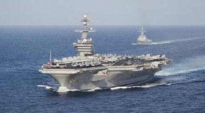 Carl Vinson (CVN 70) Strike Group shows up in Republic of Korea!