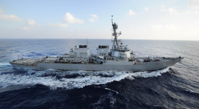 U.S. Destroyer forced to alter course to avoid Iranian attack boat