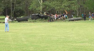 UH-60 Blackhawk helicopter crashes in Maryland