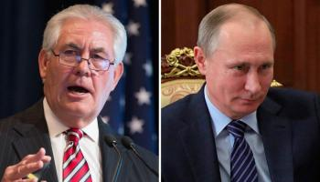 U.S. Secretary of State arrives in Moscow intent on driving a wedge between Putin and Assad