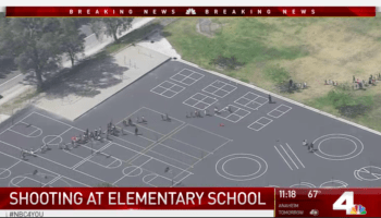A teacher and two students were shot at an elementary school in San Bernadino, California