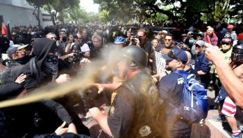 News Roundup: Trump supporters and Antifa slug it out in Berkeley, USAF elephant walk, West Point cadet dismissed over drug dealing