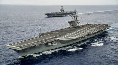 USS Ronald Reagan Carrier Strike Group joins the USS Carl Vinson in the Pacific