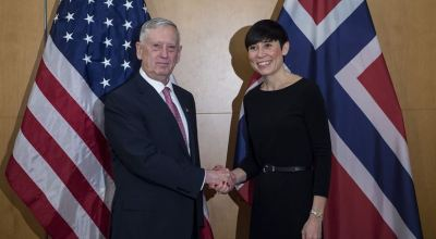 Mattis meets with Norwegian defense minister to reaffirm ties and discuss Arctic defense