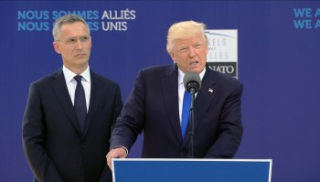 President Trump calls on NATO to meet financial obligations to strengthen alliance