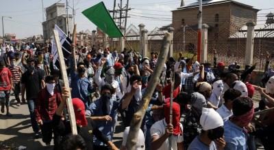 Protests erupt in India's Kashmir after militant commander is killed