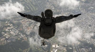 Picture of the Day: Airmen & Soldiers Perform HALO Jump from MC-130
