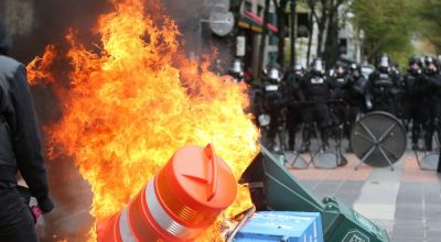 May Day protests turn violent in the Northwest, but the violence may have been by design