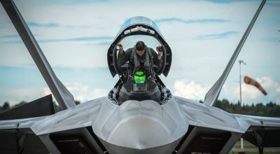 Picture of the Day: F-22 Raptor Pilot Getting Ready to Go!