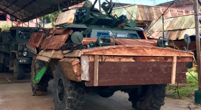 Images surface of wood armor on Philippine military vehicles fighting ISIS: Could that actually work against an RPG?