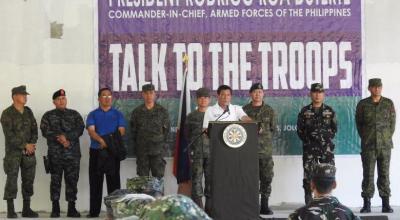 Duterte says Philippines will stop taking second-hand U.S. military equipment