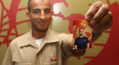 Afghan interpreter earns elite title as U.S. Marine