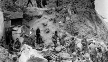 Rangers Storm the Cliffs of Pointe du Hoc on D-Day 75 Years Ago