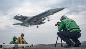 USS Carl Vinson flight deck f-18