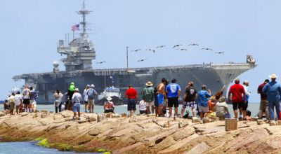 USS Independence Completes its Last Voyage – Towed to Brownsville Texas