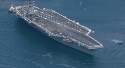 Watch: USS Nimitz Strike Group Steams Out on Six Month Deployment!