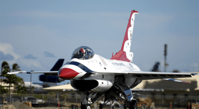 Air Force Thunderbird F-16 Flips Over After Landing at Dayton International Airport
