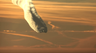 Watch: Jet forms massive vapor trail across the skies somewhere in Russia
