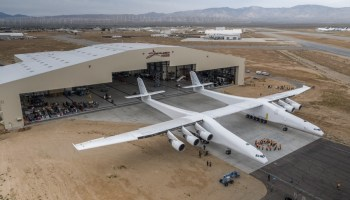 Is this massive airplane the future of space travel?  One billionaire thinks so.