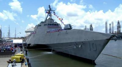 U.S. Navy launches newest littoral combat ship, USS Gabrielle Giffords