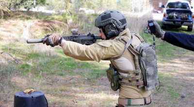 Watch: Practicing reloads using the MK18 CQBR