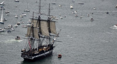 USS Constitution, world's oldest commissioned warship, returns to the water after restoration
