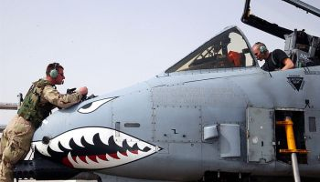 A-10_Warthog_nose_maintenance