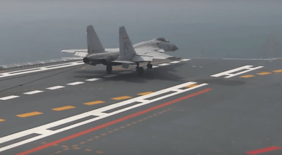 Watch: Chinese Aircraft Carrier Liaoning conducting flight operations
