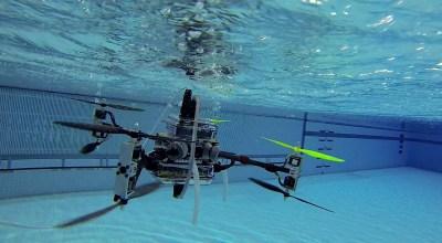 "Watch: US Navy's ""Naviator"" quadcopter fly & swim underwater!"