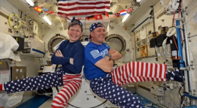 NASA Astronauts 'Show Off' How to Celebrate the 4th of July in Space!