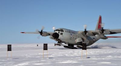 New York Air National Guard's 109th Airlift Wing uses ski-equipped C-130s to conduct Arctic training