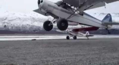 Watch: World record shortest landing!