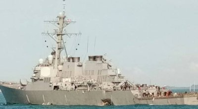 USS John S. McCain collides with commercial oil tanker off the coast of Singapore
