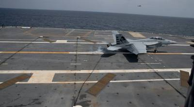 Watch: US Navy performs first fixed wing aircraft recovery aboard USS Gerald R. Ford
