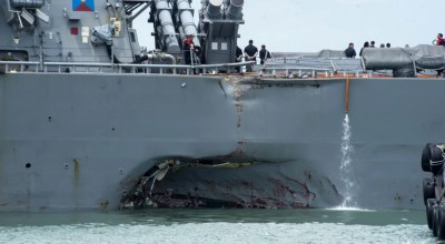 Top Navy admiral orders fleetwide investigation following latest collision at sea
