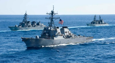 USS John S. McCain passes within 12 miles of armed Chinese artificial island in the South China Sea
