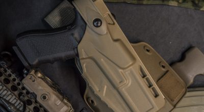 Safariland Model 7304 ALS/SLS Holster: Simple locking mechanism, perfect retention