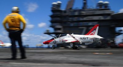 Watch: Inside the Life of a Student Naval Aviator Landing for the First Time on the Ship