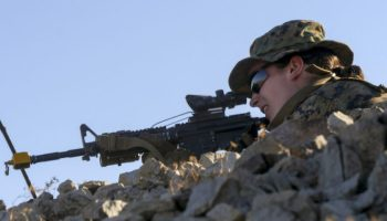Watch: The Marine Corps' first female Infantry Officer training in 29 Palms