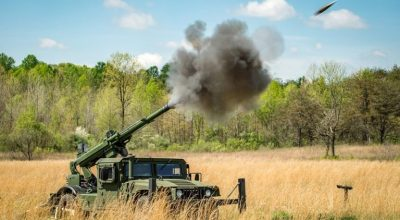 New Hawkeye Howitzer's reduced recoil allows for Humvee, pickup truck mounting