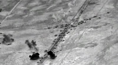U.S. warplanes are called off surveillance of ISIS convoy, at Russia's request