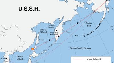 Airspace conflict before Open-Skies, Korean Airlines Flight 007