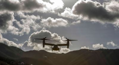 Picture of the Day: Marine Corps MV-22B Osprey in St. John, U.S. Virgin Islands