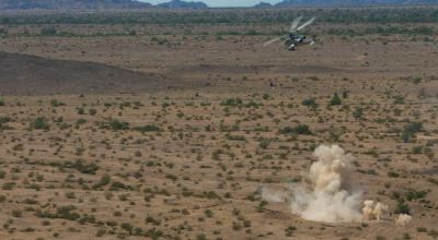 Picture of the Day: U.S. Marine Corps AH-1Z Viper Engages a Target