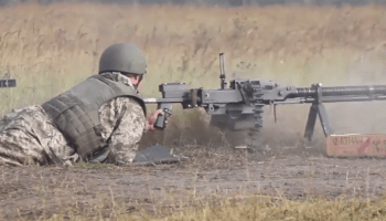 Watch: Ukrainian Army trains on the powerful DShK Heavy Machine Gun