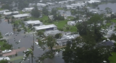 Watch: Aerial drone footage of Hurricane Irma damage in Naples, Florida
